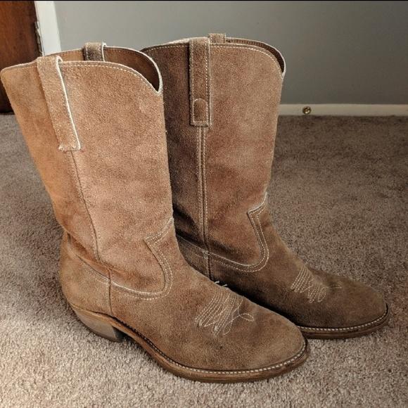 3a6e5e6dcf2 Mens Brown Suede Cowboy Boot Size 12?
